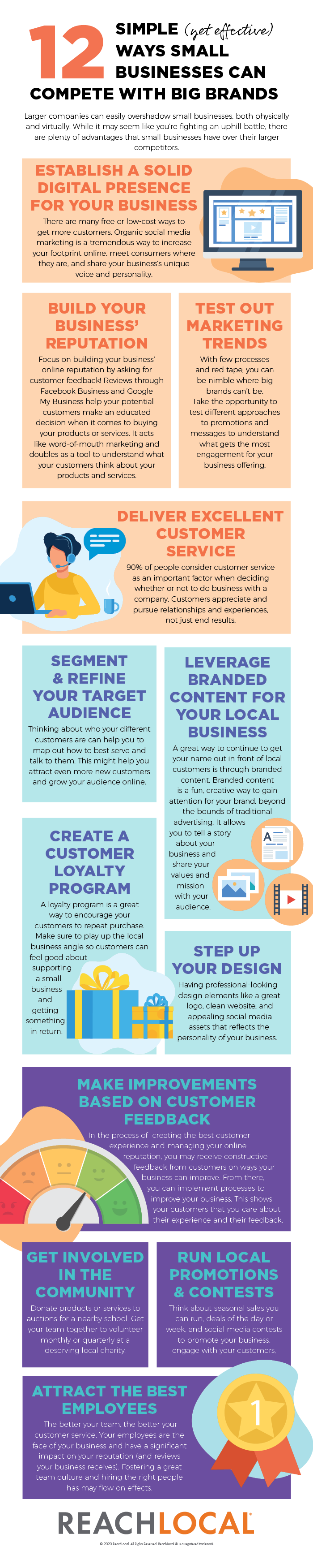 infographic 12 ways businesses can compete with big brands by ReachLoal